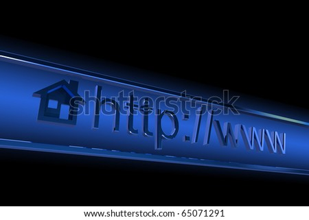 Internet browser home page address - stock photo