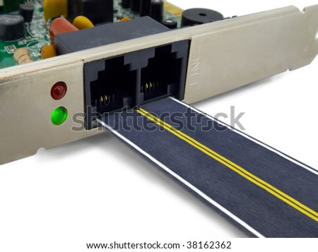 Internet communication concept - stock photo