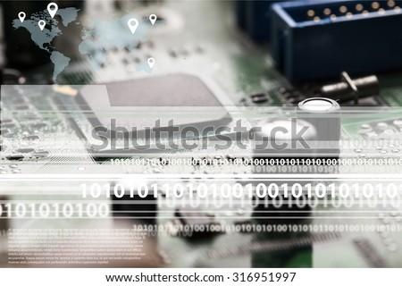 Internet communications. - stock photo