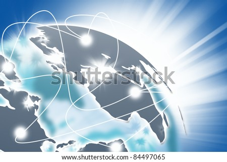 Internet Concept of global business. - stock photo