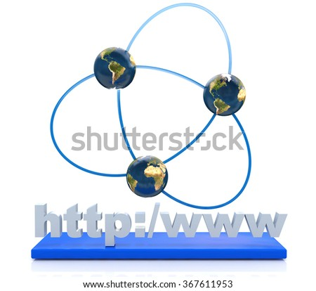 Internet connection in the design of information related to the Internet and communication - stock photo