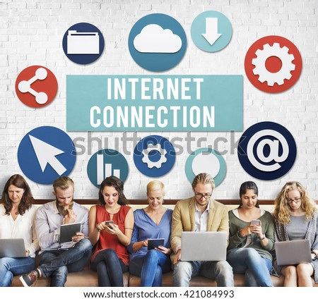 Internet Connection Online Technology Concept - stock photo