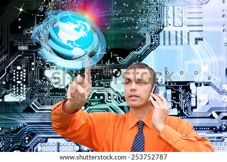 Internet.Connection technologies - stock photo