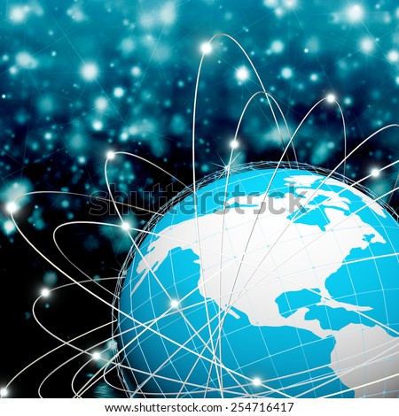 Internet connection world technologies - stock photo
