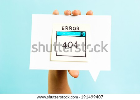 Internet error 404 page not found on blue background - stock photo
