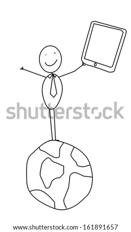 internet global  - stock photo