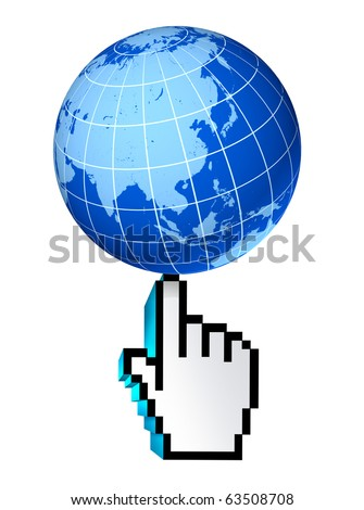 internet global asia pacific China Japan Korea web earth connections interactive touch symbol select world wide conected communications technology isolated - stock photo