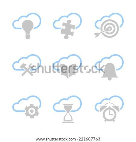 Internet icon set - stock photo