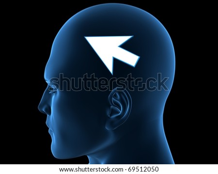 Internet in the head - stock photo