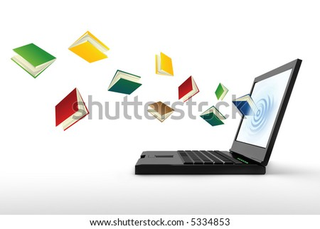 internet library - stock photo