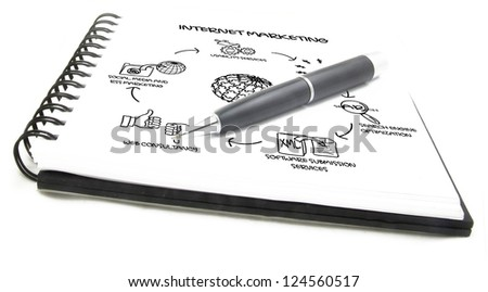 internet marketing plan - stock photo