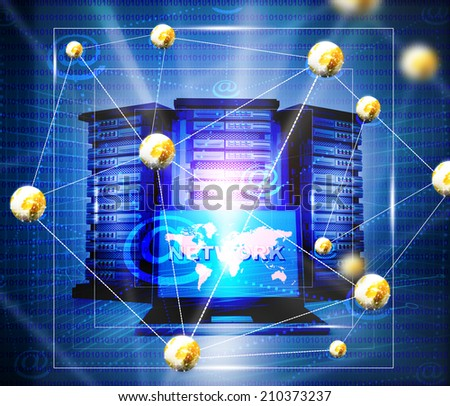 Internet network background - stock photo