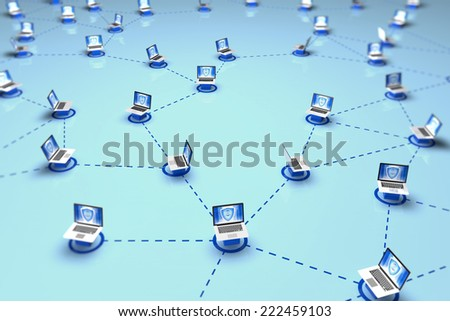 Internet Network concept - stock photo