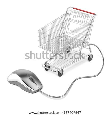 Internet online shopping concept - stock photo