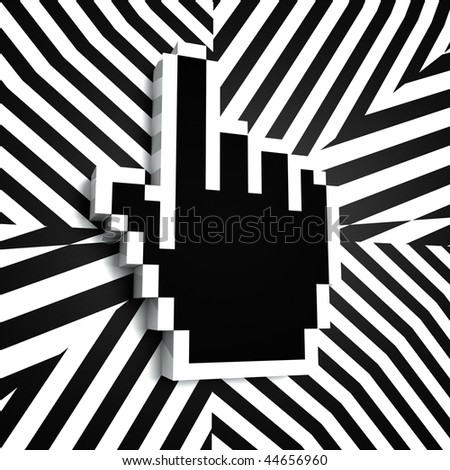 Internet Pointer Link in Black and White - stock photo