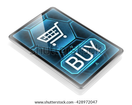 Internet purchase - stock photo