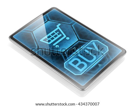 Internet purchase (3D illustration) - stock photo