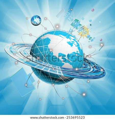 Internet.Science.Research.Connection - stock photo
