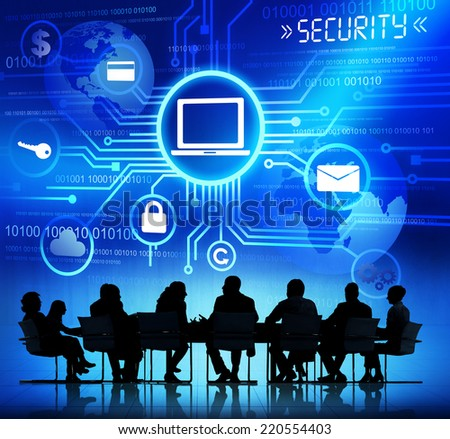 Internet Security System - stock photo