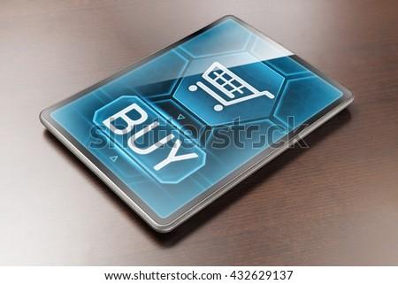 Internet shopping - stock photo