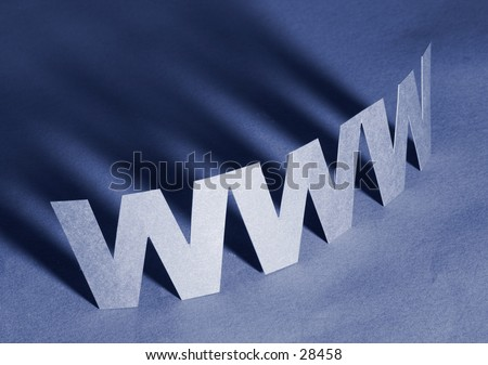 Internet Technology Concept: www - stock photo