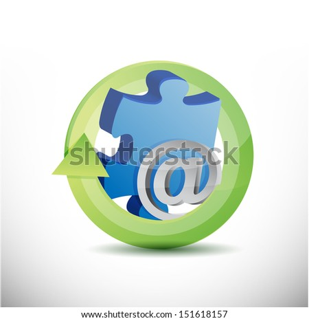 internet the missing piece illustration design over white - stock photo