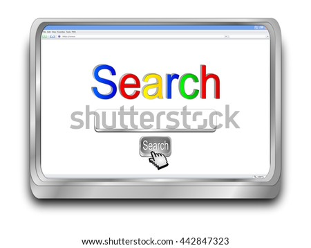 internet web search engine - 3D illustration - stock photo
