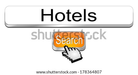 Internet web search engine hotels - stock photo