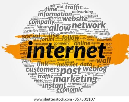 INTERNET word cloud, business concept - stock photo
