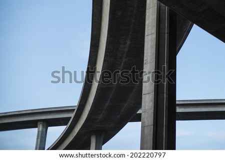 Intersection of flyover - stock photo