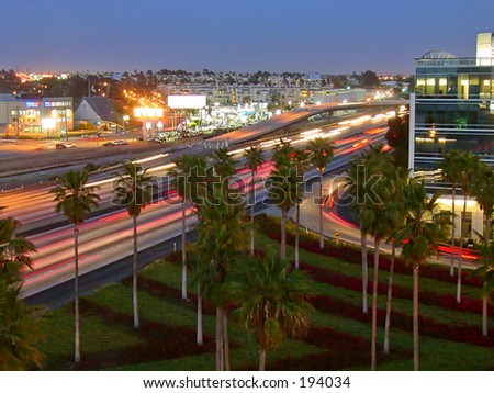 Interstate 405 - stock photo