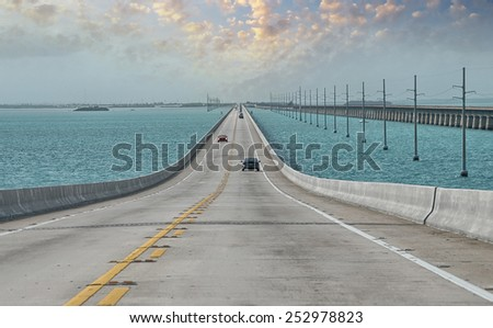 Interstate through the ocean - stock photo
