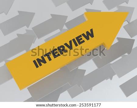 INTERVIEW - stock photo