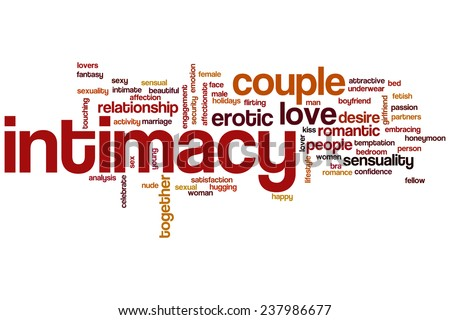 Intimacy word cloud concept - stock photo