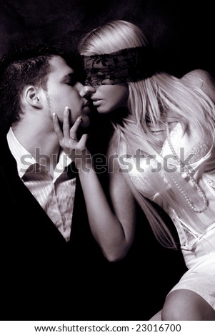 intimate moments, studio dark, duo colors - stock photo