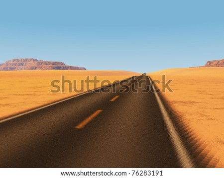 into the great wide open - stock photo
