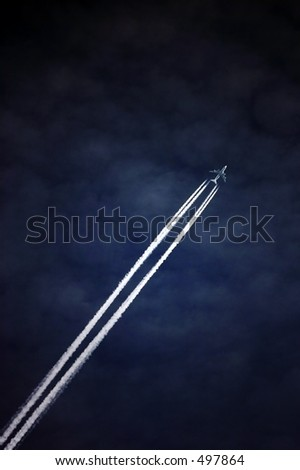 Into the sky - stock photo