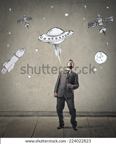 Into the space  - stock photo