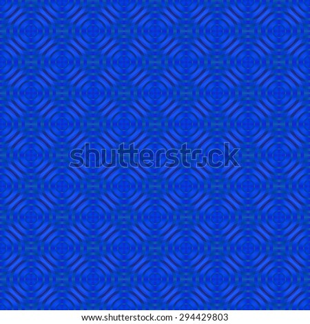 Intricate blue / purple abstract tiled ripple / target design on white background  - stock photo
