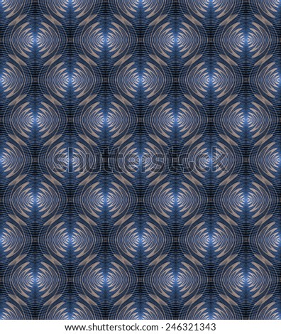 Intricate mini blue / beige ripple design on black background (tile able) - stock photo