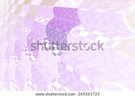 Intricate purple checkered / wave design on white background  - stock photo