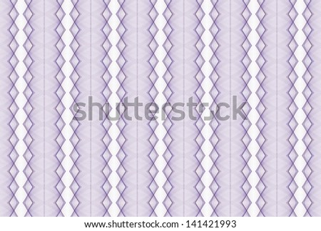Intricate woven abstract purple diamond design on white background - stock photo