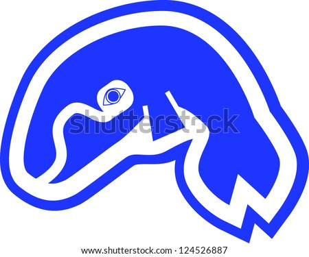 Inuit Whale Drawing for Kids - stock photo