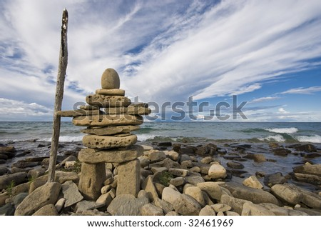 Inuksuk - stock photo