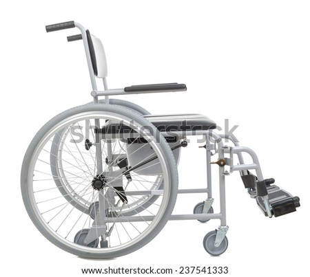 invalid chair isolated on white background - stock photo
