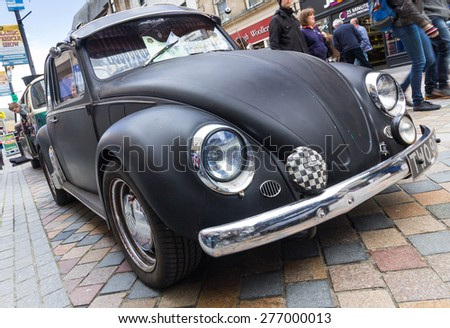 INVERNESS, SCOTLAND - MAY 9: Volkswagen Beetle on May 9, 2015 in Inverness, Scotland. - stock photo