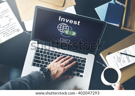 Invest Fund Banking Savings Business Concept - stock photo