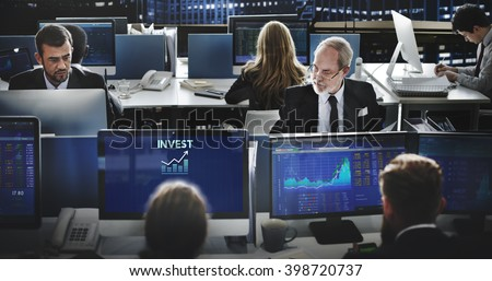 Invest Investment Financial Income Profit Costs Concept - stock photo