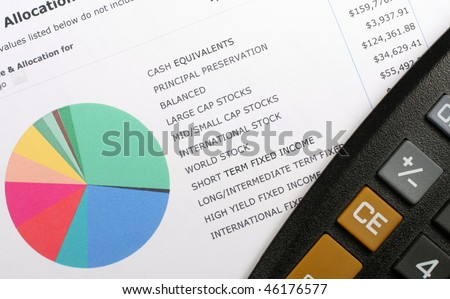 Investment Allocation Graph & Calculator - stock photo
