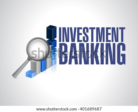 Investment Banking business finance graph illustration design - stock photo